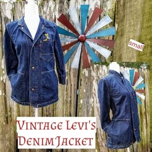 Mint Unique Vintage Levi's Denim 3/4 Sleeve Jacket